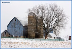 made to persist (MEA Images) Tags: trees winter snow wisconsin rural canon barns january farmland farms silos canoneos60d barnsnfarms