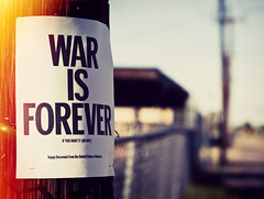 war IS forever (flyinslugs) Tags: street light urban phoenix fence bill war downtown post state nwo police hood leak warisforever