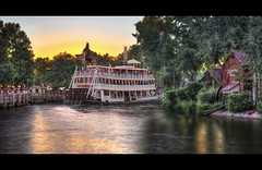 The Belle (Uncle_Greg) Tags: sunset reflection orlando nikon florida disney fisheye disneyworld wdw waltdisneyworld exploration hdr themepark magickingdom frontierland paddlewheel toottoot 40thanniversary d90 libertybelle unclegreg disneypictures disneyphotos disneyphotography gregstevenson themedetail