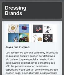 dressing brands (Silvia Ardila Handmade Jewelry) Tags: en blog jewelry dressing jewellery jewlery interview brands entrevista jewelrydesign joyera silviaardila