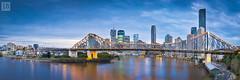 Around The Bend PANO [Explored] (Joe Brosnan) Tags: city bridge blu