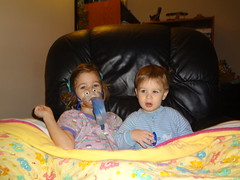 Treatment time! (toddhdow) Tags: riley katie cf treatment nebulizer cysticfibrosis