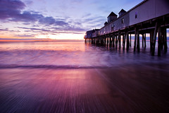 Sunrise in Old Orchard Beach (chris lazzery) Tags: sunrise maine oldorchardbeach canonef1740mmf4l singhraygoldnbluepolarizer 5dmarkii