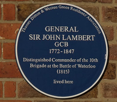 Photo of John Lambert blue plaque