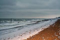 The day the snow came to Bexhill (larigan.) Tags: uk winter england snow beach waves unitedkingdom shingle pebbles rough beacon englishchannel colonnade lamanche bexhill roughseas larigan phamilton licensedwithgettyimages