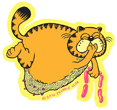 garfcliff (natebeaty) Tags: pink orange color illustration sausage garfield whathaveidone pfillo