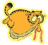 garfcliff (natebeaty) Tags: pink orange color illustration sausage garfield whathaveidone pfillo