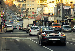 Going Home *Explored* (Tom Fraser Photo) Tags: silver grey spider southyarra australia melbourne ferrari f430 tomfraser t0m722