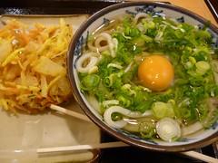 Udon Noodle with Tempura and Raw Egg @SETO Udon, Shimbashi, Tokyo (Phreddie) Tags: food japan tokyo udon raw yum egg eat noodle tempura shimbashi seto 120206