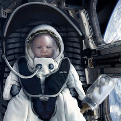 Babynaut (nael.) Tags: voyage travel baby milk earth space astronaut nasa photomontage lait spacetravel spaceship bb spacesuit cosmonaut zerogravity babybottle satelite biberon spacial 0g nourisson nael apesanteur astronauttraining photoretouche babynaut bbnaute