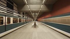 Munich underground. Oberwiesenfeld II (susan pau) Tags: underground munich mnchen bayern bavaria monaco motionblur ubahn