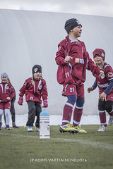 1604_FOOTBALL-134 (JP Korpi-Vartiainen) Tags: game girl sport finland football spring soccer hobby teenager april kuopio peli kevt jalkapallo tytt urheilu huhtikuu nuoret harjoitus pelata juniori nuori teini nuoriso pohjoissavo jalkapalloilija nappulajalkapalloilija younghararstus