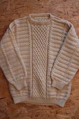 Textured aranstyle sweater (Mytwist) Tags: irish classic wool fashion vintage fisherman knitting cream ivory craft style passion knitted aran pullover authentic textured laine vouge cabled aransweater mytwist aranjumper aranstyle blackshuckstore