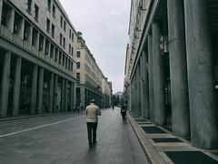 (Brunella Pastore) Tags: man roma torino walk perspective via uomo viaroma portici prospettiva