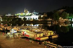 Prague by night (funnyfrenchie) Tags: night canon eos prague praha nuit vltava lightroom 600d