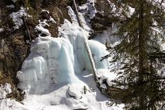 Blue Ice, Johnston Canyon, Banff, Alberta (Jim 03) Tags: blue lake snow mountains ice wall creek river melting path turquoise jim canyon louise covered alberta bow banff icicles johnston jimhoffman jhoffman jim03 wwwflickrcomphotosjhoffman2013 wwwjimahoffmancom