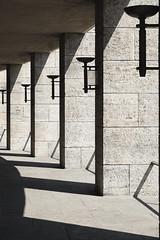 columns (_fokus_) Tags: shadow berlin stone architecture fuji geometry stadium olympiastadium xt1 xtrans classicchrome fujixseries xf1855