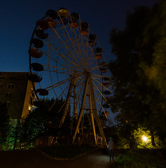 20|52 (olha.mykhalska) Tags: park nightphotography sky people man color up wheel night lights alone darkness outdoor space magic ghost lviv psycho soul ferriswheel serene build sity lightdrawing longexposur 52weekproject nightaddiction mykhalskaph