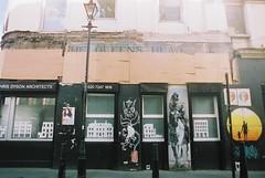 The Queens Head Pub (goodfella2459) Tags: street colour london history film fashion analog 35mm lens jack george pub nikon elizabeth head mary queens crime kelly 24mm af nikkor 50 whitechapel milf f4 spitalfields hutchinson ripper stride c41 f28d cinestill