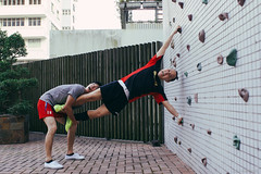 Little help (Alan P. in Hong Kong) Tags: sony a65 documentary hongkong city life volleyball