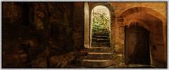 "Inside the"" St.Wendel vom Stein"" Chapel (franzisko hauser) Tags: history stairs rocks doors chapel philosophy mystic sonyalpha7"