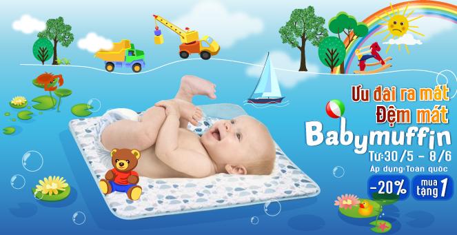 [TutiCare toàn quốc] Ưu đãi ra mắt Đệm mát Babymuffin cho bé (30/5 - 8/6/2016)