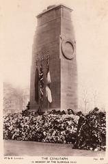 London - Cenotaph (pepandtim) Tags: old london dead early postcard nostalgia glorious memory nostalgic wk cenotaph 65cen76