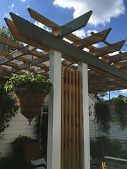 Painting and staining the deck and pergola this summer (Kim Beckmann) Tags: pergola dyi outdoorrooms