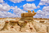 Rock Formations in New Mexico (Jim Johnston (OKC)) Tags: newmexico clouds desert hike rockformations 3wisemen bistibadlands ahshislepah
