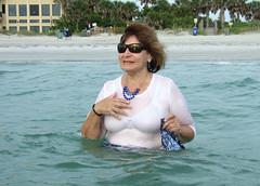 Dinner dress swimwear (clarkfred33) Tags: ocean water senior swim necklace gulf florida indianrocksbeach wade swimwear beachscene ttd wetclothes wetwoman trashthedress senioradventure wetjewelry wetadventure