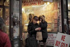 What's in the bag ? (Dj Poe) Tags: street new york city nyc cinema ny zeiss canon photography eos gold canal chinatown dj mark candid jewelry we ii carl buy 5d cinematic poe 2011 5dmkii 5dmk2 distagont1435ze
