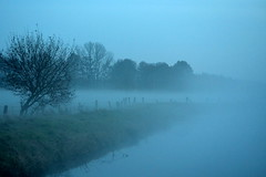dreamland (redglobe*) Tags: blue autumn lake tree nature water fog river landscape nikon mnster