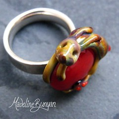 "Tan Bunny on red Ring Top • <a style=""font-size:0.8em;"" href=""https://www.flickr.com/photos/37516896@N05/6418485349/"" target=""_blank"">View on Flickr</a>"