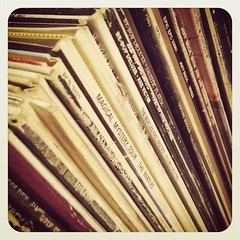 Vinyl collection (The Hamster Factor) Tags: old records love vinyl stack retro collection albums stacked