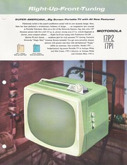 MOTOROLA TV Dealer Sales Portofolio (USA 1958)_38 (MarkAmsterdam) Tags: old sign metal radio vintage advertising design early tv portable colorful fifties mark ad tube battery engineering pickup retro advertisement collection plastic equipment electronics era handheld sheet booklet collectible portfolio eames electrical atomic brochure console folder forties sixties transistor phonograph dealer carradio fashioned transistorradio tuberadio pocketradio 50s 60s tableradio plaskon 40s kitchenradio meijster markmeijster markamsterdam coatradio tovertoom
