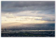 ((eric)) Tags: city light sunset sky mountain night clouds river taiwan  taipei         yangmingshan    nikond700 cultureuniversity d700 makroplanar1002zf carlzeissmakroplanar1002zf