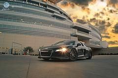 "Audi R8- Prior Design Front Lip and Side Skirts.  Modulare M18 20"" wheels (Prior Design NA (priordesignusa.com)) Tags: wheels lip audi rims diffuser v8 v10 spoiler r8 bodykit audir8 blackwheels modulare sideskirts frontlip blackr8 20wheels priordesign"