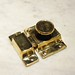 "Latch base: 2-1/4"" x 1-5/8""Catch: 2-1/4"" x 3/4""Material: solid-brassFinish: polished-brass (unlacquered)* custom finishes available upon request (including satin-brass, aged-brass, antique-brass, oil-rubbed-bronze, satin-nickel, pewter, polished-nickel, satin-chrome, polished-chrome, black, etc.)Please contact us for current availability and pricing<a href=""http://www.thedoorstore.ca"" rel=""nofollow"">www.thedoorstore.ca</a>"