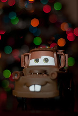 Sir Tow Mater (geedub11) Tags: cars 50mm lights nikon bokeh iii sb600 mater nikkor tow softbox cls niftyfifty lumiquest d80 strobist strobism