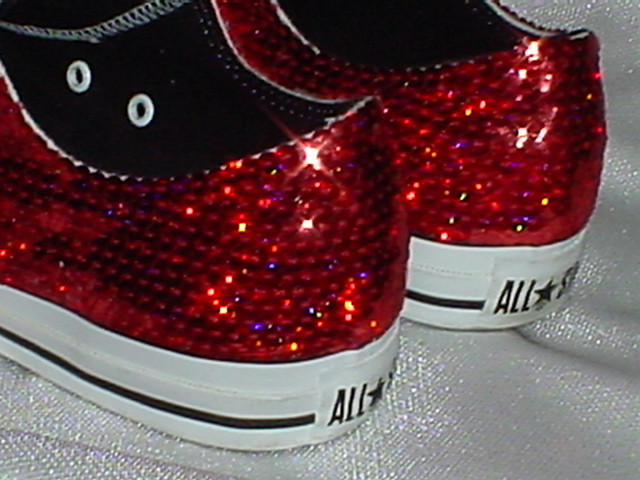 680083410124 usa converse red sparkle shoes 293bb 8056d