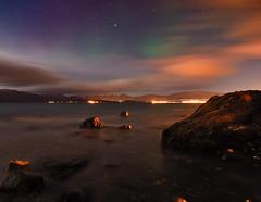 hidden colors (John A.Hemmingsen) Tags: longexposure sky seascape water colors night clouds landscape norge nordnorge troms troms flickraward nikonflickraward nikond7000 dblringexcellence