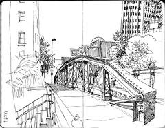 crockett street bridge (paul heaston) Tags: urban art moleskine notebook sketch artwork drawing journal sketchbook