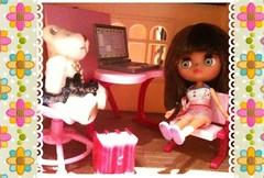 Mini Blythe's pink school room