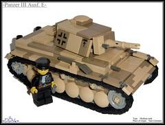 Lego ww2 -Panzer III Ausf. E Desert Camo- (=DoNe=) Tags: world 2 by viktor model war tank lego nazi homemade german corps afrika done camoflage legopanzeriii legoww2 legoww2panzeriiiausfedesertcamo