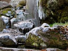 Falling Ice (AshleyHylton) Tags: longexposure winter snow ice nature water canon frozen stream korea hike powershot g11