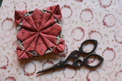 Fennel Flower tutorial 01 (El Telar de Ixchel) Tags: de origami el patchwork ixchel telar fennelflower eltelardeixchel