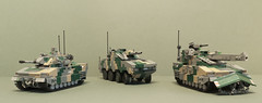 Nordic medium-armour battlegroup (Aleksander Stein) Tags: auto infantry lego military cannon vehicle 40mm patria bayonet bofors amv hgglunds ifv cv100 mcvs xa380 fighteing