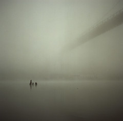 foggy morning (bunbunlife) Tags: film mediumformat foggy 120film hasselblad stjohnsbridge cathedralpark kodakporta160