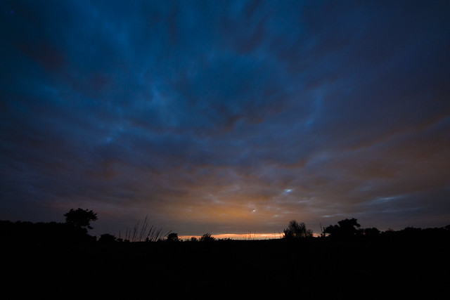 sunset over the heath