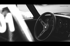 Engineered for Magic (Spencer P Photos) Tags: white black cars coffee field car wheel race emblem logo for nikon downtown dof steering board magic 911 maryland dash numbers german porsche shield shallow annapolis 18 85 depth engineered perfection gauges d90